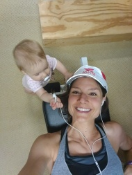 Day 3: weights with the cutest baby ever